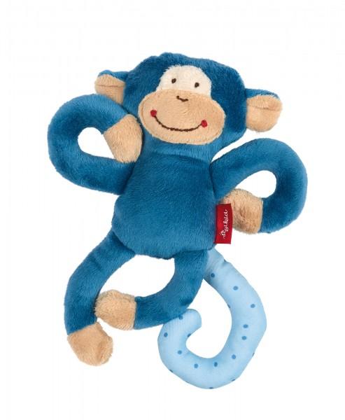 Babyschalen Anhänger Affe in Blau