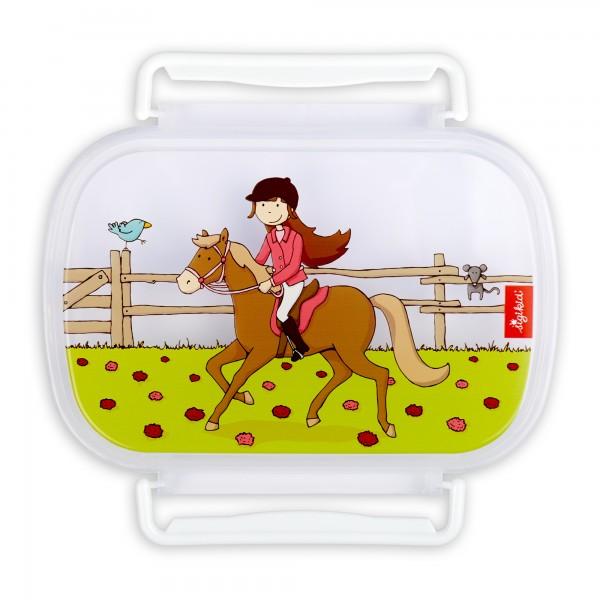 Brotbox-Ersatzdeckel Pferdefreundin Gina Galopp