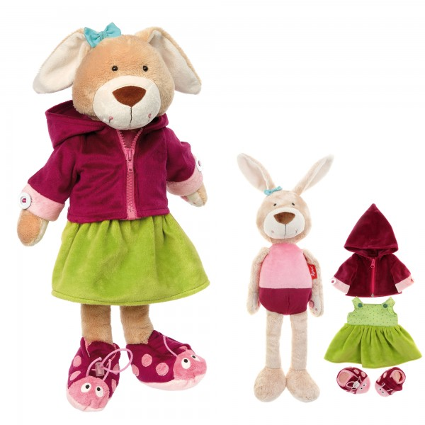 Learn-how-to-dress plush bunny