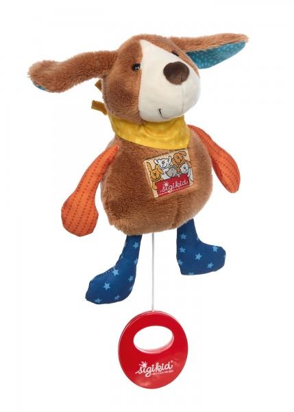 Musical soft toy dog