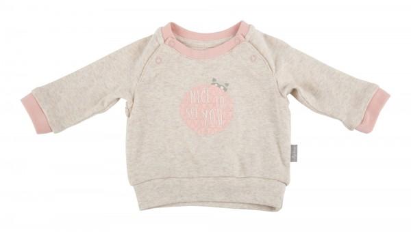 Baby Sweatshirt in beige und rosa