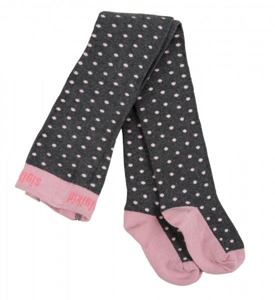 Mädchen Strumpfhose mit rosa Pünktchen