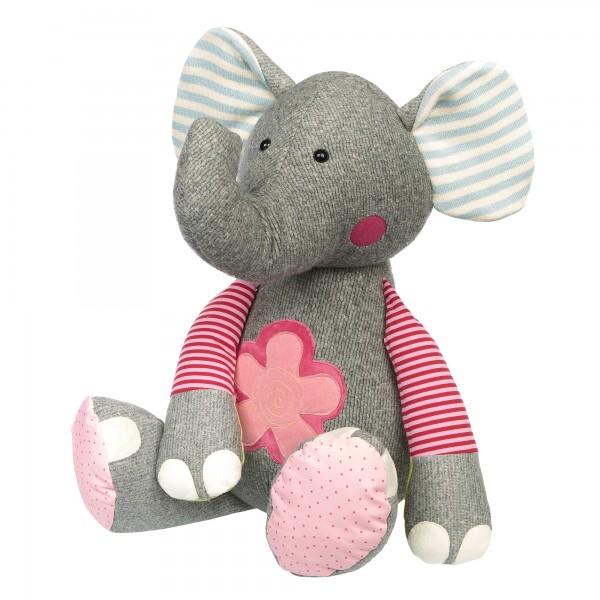 XXL Kuscheltier Elefant im Patchworkstyle
