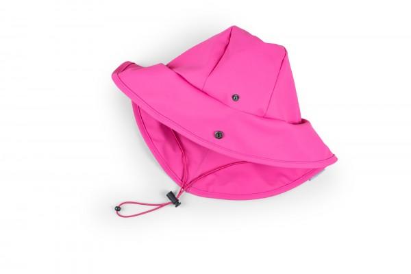 Pinke Regenmütze mit Nackenschutz