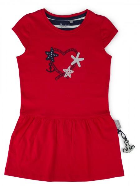 Rotes Jersey Kleid für den Sommer