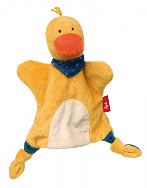 Handpuppen Schnuffeltuch Ente