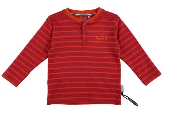 Fröhliches Henleyshirt mit Streifen