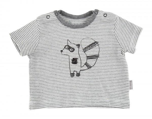 Baby T-shirt grau gestreift