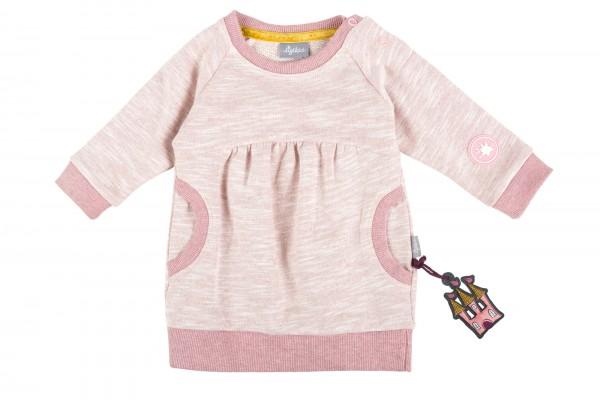 Rosa Meliertes Baby Sweatkleid