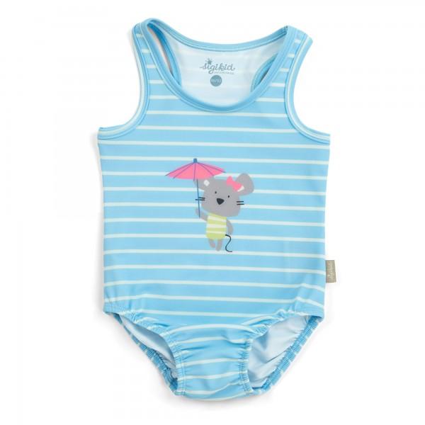 Baby Badeanzug geringelt mit Mäuschen Motiv